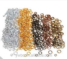 Wholesale Open Loop Jewelry Findings Connector round Split colored Jump Rings