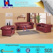 #934 Strong Wood frame leather couch noble luxury chesterfield sectional sofa
