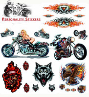 Personalized Motorcycle decal, wolf sticker for racing motorcycle, dirt bike decals