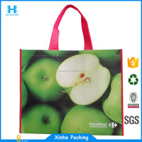 lovely shiny laminated non-woven standard shopper tote bag
