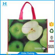 lovely shiny laminated non-woven standard shopper tote bag