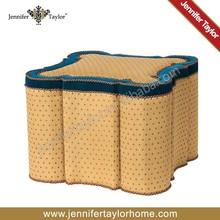 Jennifer Taylor La Rosa fabric fancy stool ottoman