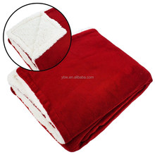 US Standard Size Deep Red Double Ply Blanket, Beddings Decoration