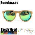 gafas de sol de madera de alta calidad y de moda marcos de anteojos de estilo retro
