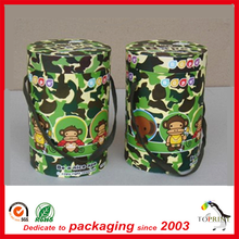 Custom colorful Camouflage paper tube box packaging design with private logo factory high quality gift products