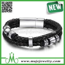 2015 Summer braided leather bracelet men bracelet leather