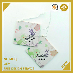 Guangzhou wholesale custom hanging paper air freshener for car with packing