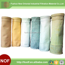 High performance cement industry non woven fabric singed air filter bag