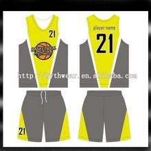 Custom sublimated womens basketball uniform design