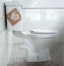 Bathroom two-piece Africa promotional factory price Ethiopia toilet