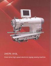 Máquina de tracción directa de alta velocidad electrónica de coser zigzag