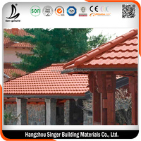 Hot sale stone coated metal roof tile, high quality colorful stone coated metal roof tile