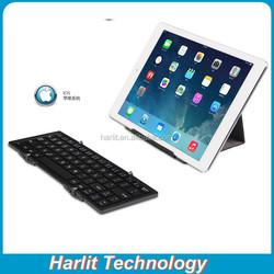 Universal Folding Wireless Bluetooth Keyboard, 3 Fold Universal Bluetooth Keyboard With Stand