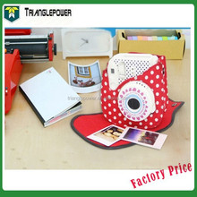 Red white dot Camera Bag, Fujifilm Instax Camera Mini8 Cloth Bag, Ploaroid Mini8