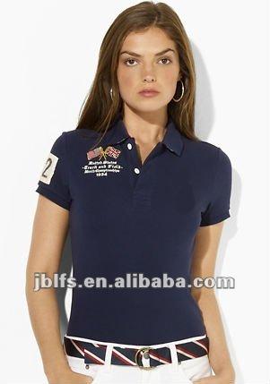 Camisa de polo de diseño para mujeres con precios competitivos
