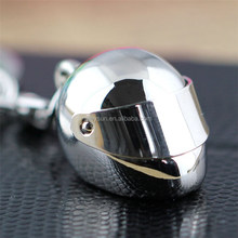 50pcs Helmet Keychain Fashion Creative Motorcycle Bicycle Casque Key Chain Ring Keyring Keyfob Key Holder DHL Freeshipping