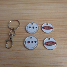 metal alberta beef producer grocery cart token coin canadian keyrings