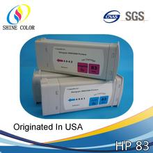 680ML compatible bulk UV pigment ink cartridge for HP 83 Designjet 5000 5500 5500ps 5100