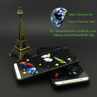 Custom Space Exploration Newest PC 3D Bling Case For Galaxy Note3/Note4/S6/S6 Edge