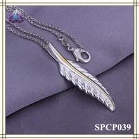 Latest Model Fashion Silver Leaf Pendant Necklace For Women