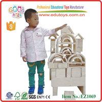 EZ1069 high quality 29 picecs Pinewood Wooden Hollow Big Blocks Toys