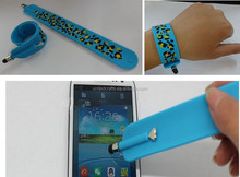 silicone slap band pen for tablet,promotional gift