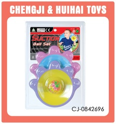 Sport toy plastic racket set suction cup ball