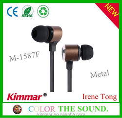 Best High Quality Fashion Metal Earphones with Flat Cable 2015