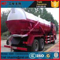 High Quality Diesel Fuel Sino 10000L-20000L self loader vacuum sewage suction truck