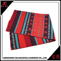 Red color Christmas 100% cashmere thick winter long scarf