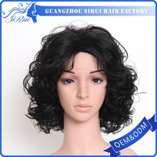 New products top quality chinese synthetic hair full lace black ponytail wig