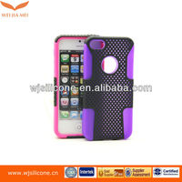 silicone+PC anti-shock double protective case robot case for iphone5s