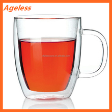 China factory custom designed hand-blown Eco-friendly products for family health borosilicate double wall glass cup