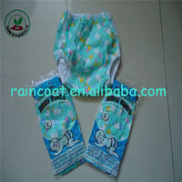 hot selling printd waterproof baby pants/pvc baby nappy/promotion baby pants