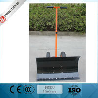 aluminium heated snow shovel with wheels