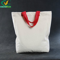Recyclable Shopping Bag White Canvas Silk Screen Print Logo On Canvas Cotton Tote Bag