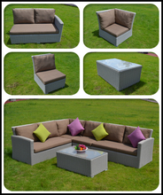 New designs outdoor sofa with gray round rattan furniture for 2016