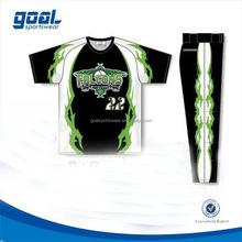 Quick dry school pro sublimation baseball uniform
