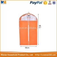 2015 alibaba ECO-friendly recycled clear zippered garment bags wholesale for promotional