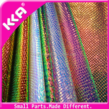PU bright snake skin for ladies handbags leather