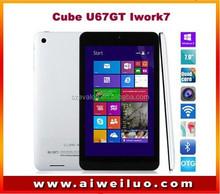 Original Cube U67GT iwork7 Ultra Slim Tablet PC win8.1 Intel Z3735G Quad core 7'' IPS 1280x800 WIFI HDM OTG