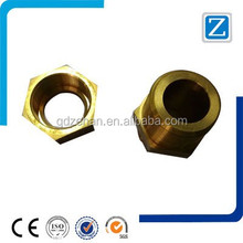 High quality precision customized brass pipe fittings with Zinc Plating Surface