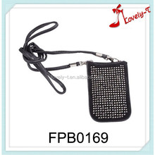 China fashion customized design belt cell phone bag neck hanging cell phone bags with beads