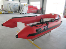 3.5m CE certificate 5 persons fiberglass hull inflatable rib boat