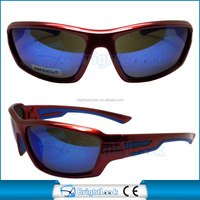Plastic colorful frame polarized sun shade running and bike outdo sports sunglasses