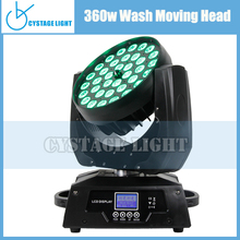 36 Pcs Rgbw 10w Leds Zoom Aura Wash Zoom Moving Head Zooming 36x10w 4 In1 Rgbw Led Moving Head Light