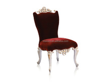 Luxury Wooden Red Fabric Dining Chair For Hotel and Home Use