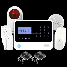 1527 learning code+Diy installation wireless security alarm system for home care with 24 hours monitoring