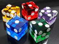 High quality transparent Acrylic game dice