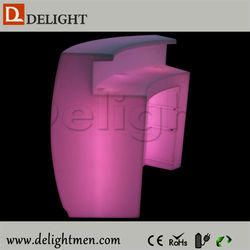 Outdoor furniture hot sale Mobile Glow Illuminated LED Slide Break modern bar cocktail counter for party